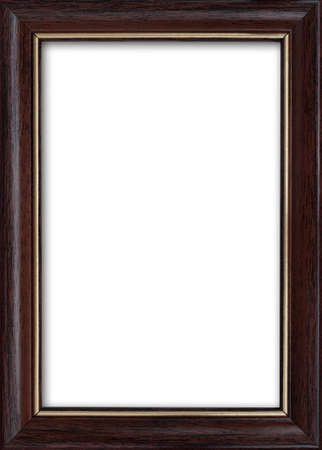 Empty picture frame with a free place inside, isolated on white background
