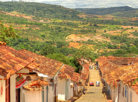 Barichara, village in Colombia 写真素材