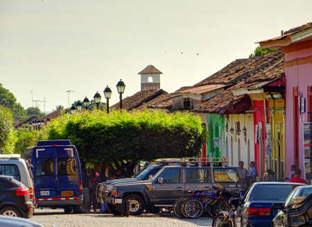 Granada, Nicaragua : Historical center in sunny weather, HDR Image