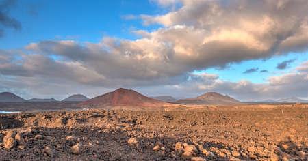 Volcanic Coastline in Lanzarote, HDR Image
