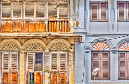Georgetown, Malaysia : April 2019 : Historical colonial center of Penang, HDR Image