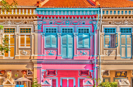 Singapore, Peranakan architecture in Joo Chiat district, HDR Image