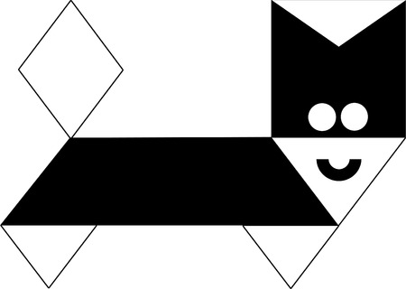 persian cat: persian cat cartoon  Illustration