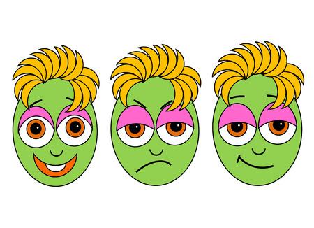 hesitating: rostros icono feliz vacilante enojado