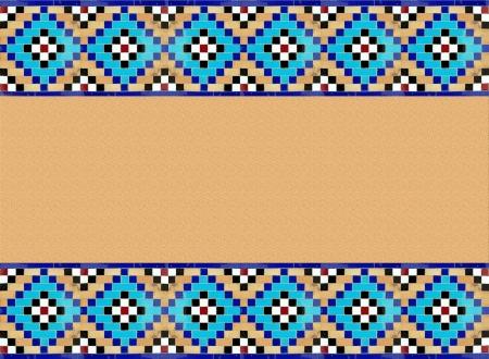 margen: patr�n persa isl�mico, cuadrado margen Foto de archivo