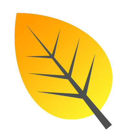 calendula: yellow leave icon symblol doque
