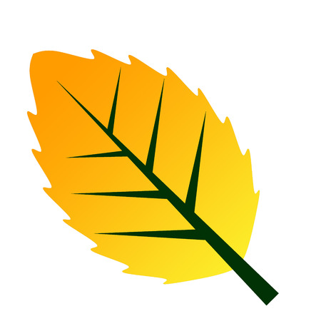 calendula: yellow leave icon symblol