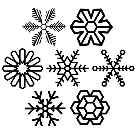 dendrite: snow crystal icon sets vector background creative series frost work