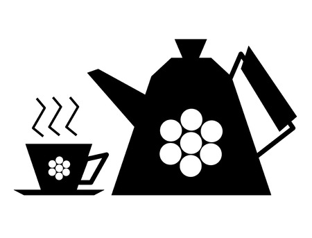 cofee cup: cup and teapot kettle clipart icon vector