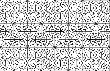 イスラム教のペルシャの芸術アラベスク格子パターン