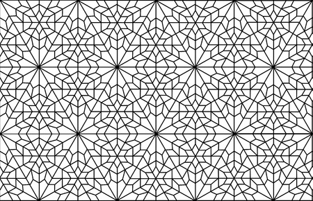 islamic persian art arabesque lattice pattern Vector
