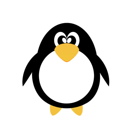 cute penguin drawing clipart Vector