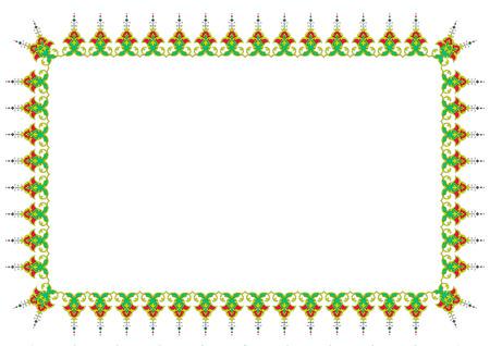 persian islamic border tazhib frame Vector
