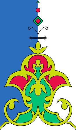 persian islamic tazhib theme Vector