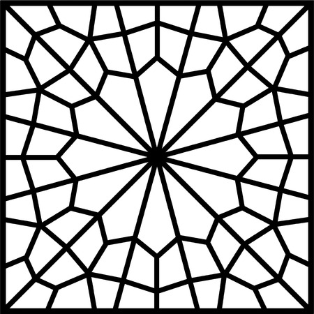 islamic persian tile or window Vector