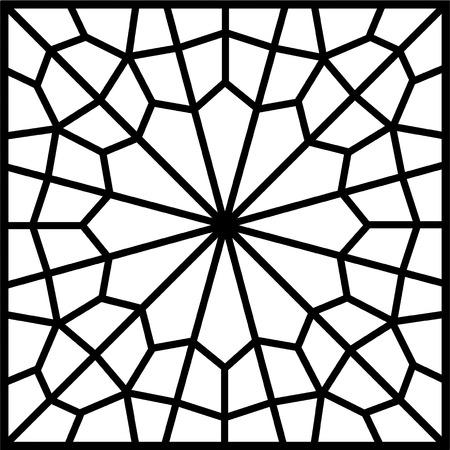 islamic persian tile or window Vector
