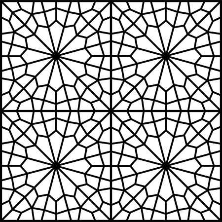 islamic persian traditional window Vector