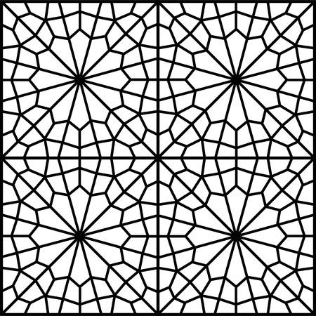 reticular: islamic persian traditional window