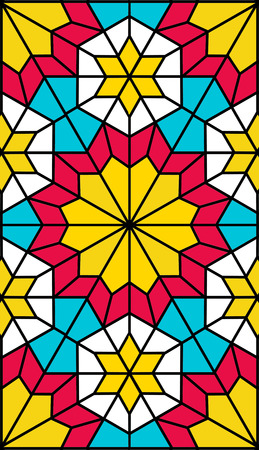 trapezoid: nice persian pattern for mobile phone desktop Illustration