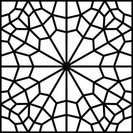 reticular: persian pattern with traditional islamic calssic background Illustration
