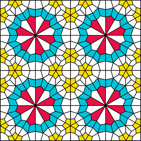 persian pattern of traditional window Vector