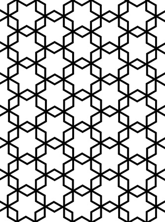 persian islamic hexagonal pattern or arabesque Vector