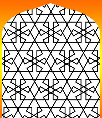 persian islamic pattern alatar window  arabesque Vector