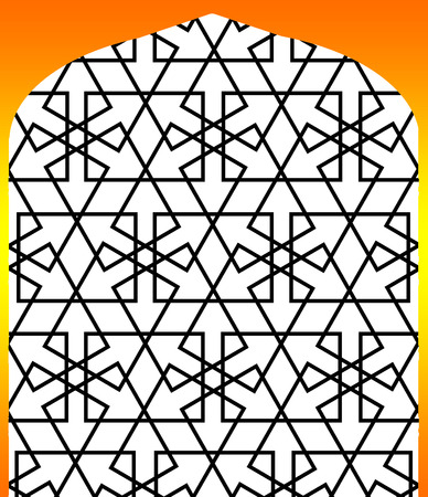 trapezoid: persian islamic pattern alatar window  arabesque
