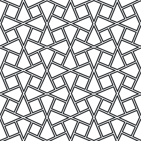trapezoid: persian islamic pattern or traditional knot arabesque