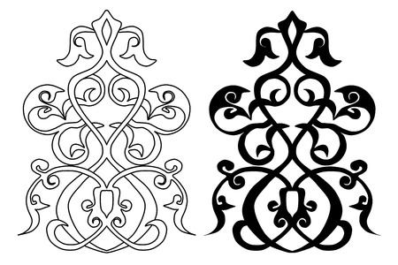 2 persian islamic traditional arabesque vector