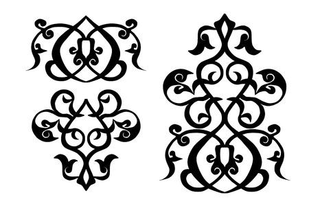 persian islamic traditional arabesque ornament