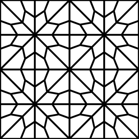 simple traditional islamic arabic pattern or reticular window Vector