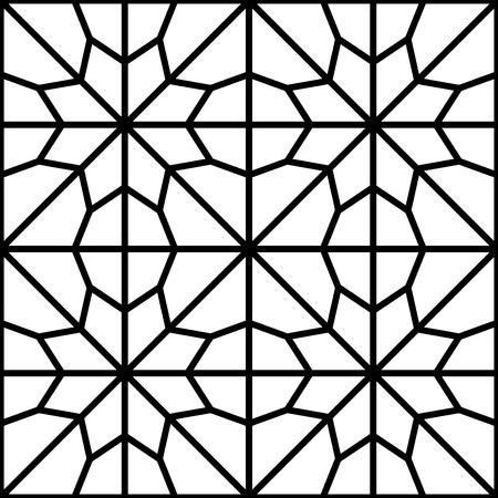 reticular: simple traditional islamic arabic pattern or reticular window
