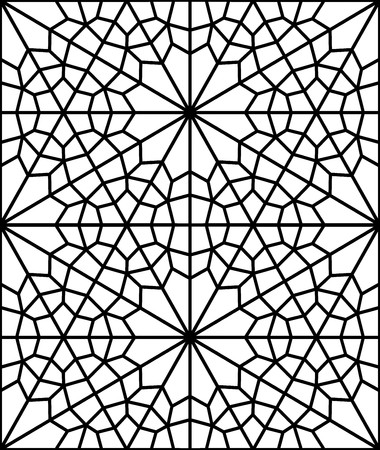 reticular: beautiful floral reticular pattern of a islamic window Illustration