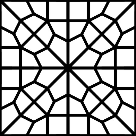 reticular: islamic persian pattern of a reticular window