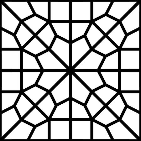 reticular: islamic persian pattern of a reticular window