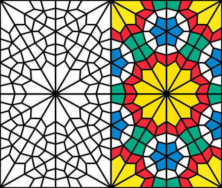 reticular: oriental pattern of a reticular window