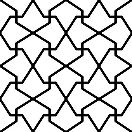 reticular: simple mathematical pattern like arrow Illustration