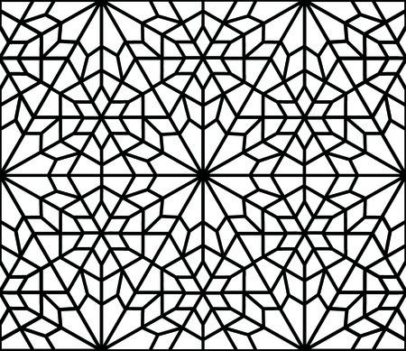traditional islamic diamond arabesque or window 일러스트