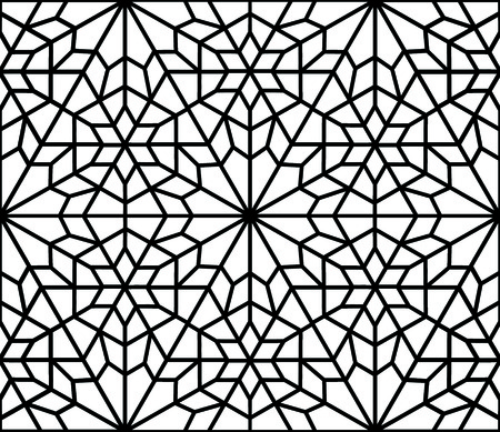 trapezoid: traditional islamic diamond arabesque or window Illustration