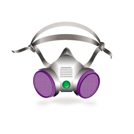 half protecting mask or industrial respirator vector