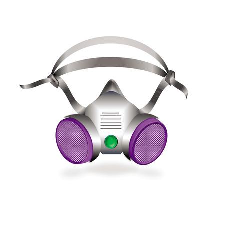 bio hazardous: half protecting mask or industrial respirator vector