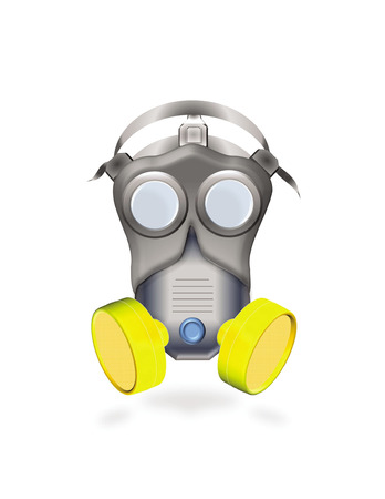 industrial gas mask or respirator Vector