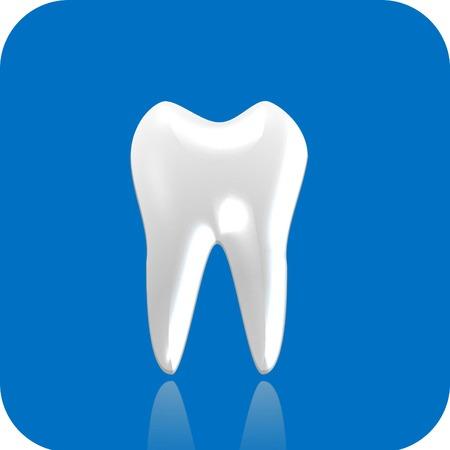 prophylaxe: Zahn 3d icon Illustration