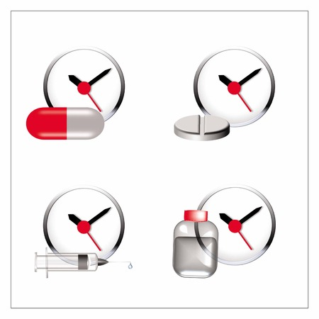 icon vector for time to consume drugs Illustration