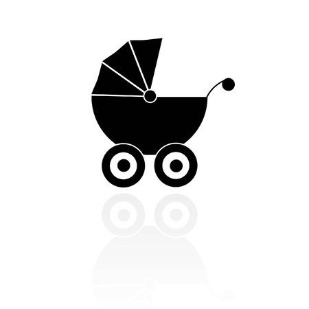 perambulator: vettore simlple di una carrozzina