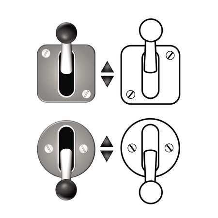 lock out: turn on and turn off lever Illustration