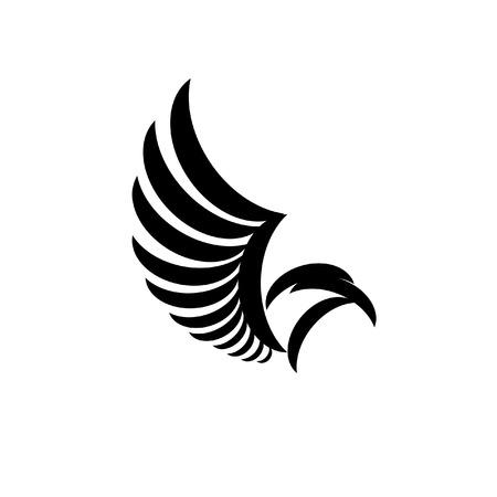 silhouette aquila: aquila silhouette con ala aperta