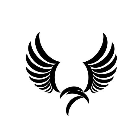 wings icon: aquila con le ali aperte icona Vettoriali