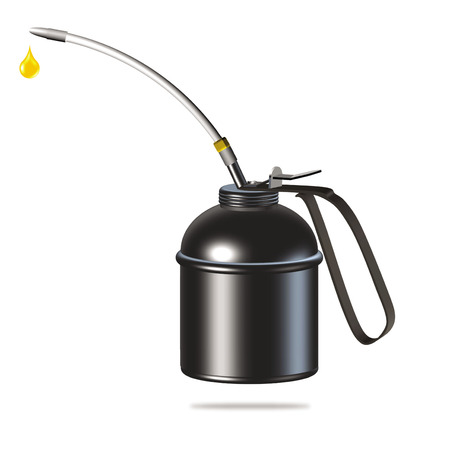 black oiler or oil can illustration on white background